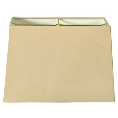 Timeless 10 Shantung  Rectangular Lamp Shade Color: Linen Beige