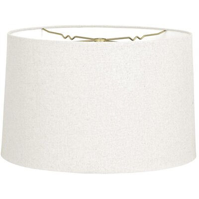 Timeless 10 Linen Drum Lamp Shade Color: Linen White