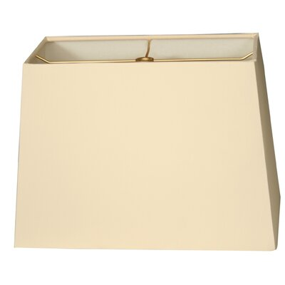 Timeless 10 Shantung  Rectangular Lamp Shade Color: Eggshell
