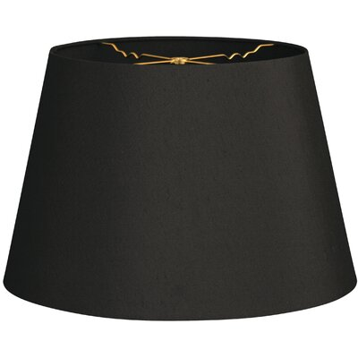 Timeless Tapered 20 Shantung Empire Lamp Shade Color: Black