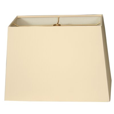Timeless 9 Shantung Rectangular Lamp Shade Color: Eggshell