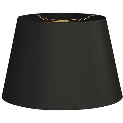 Timeless Tapered 12 Shantung Empire Lamp Shade Color: Black