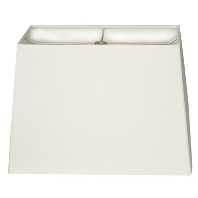 Timeless 10 Linen Rectangular Lamp Shade Color: White