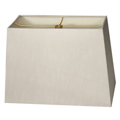 Timeless 8 Shantung Rectangular Lamp Shade Color: Gray