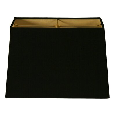 Timeless 8 Shantung Rectangular Lamp Shade Color: Black