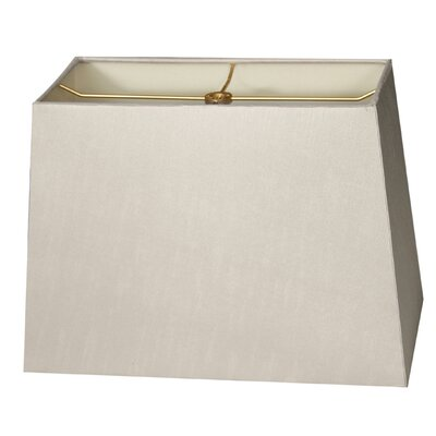 Timeless 10 Shantung  Rectangular Lamp Shade Color: Gray