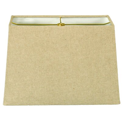 9 Linen Rectangular Lamp Shade Color: Linen Cream