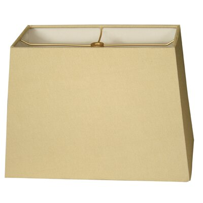 Timeless 8 Shantung Rectangular Lamp Shade Color: Antique Gold