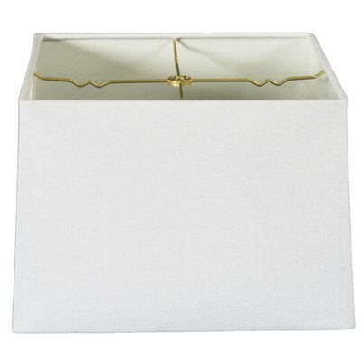 Timeless 14 Linen Square Lamp Shade Color: Linen White
