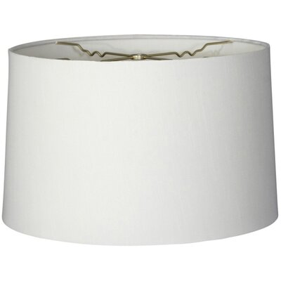 Timeless 14 Linen Drum Lamp Shade Color: White