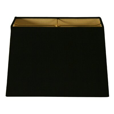 9 Linen Rectangular Lamp Shade Color: Black