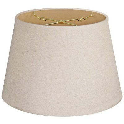Timeless Tapered 12 Linen Empire Lamp Shade Color: Linen Cream