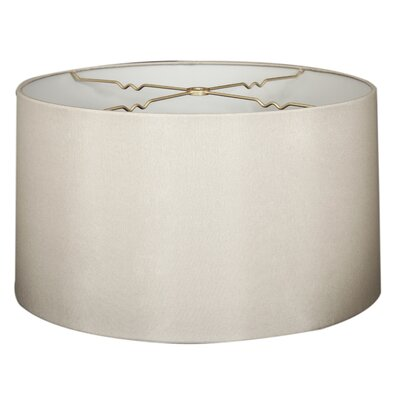 Timeless 16 Shantung Drum Lamp Shade Color: Gray