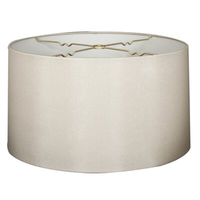 Timeless 14 Shantung Drum Lamp Shade Color: Gray