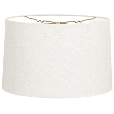 Timeless 12 Linen Drum Lamp Shade Color: Linen White