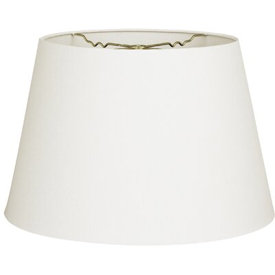 Timeless Tapered 12 Linen Empire Lamp Shade Color: Linen White