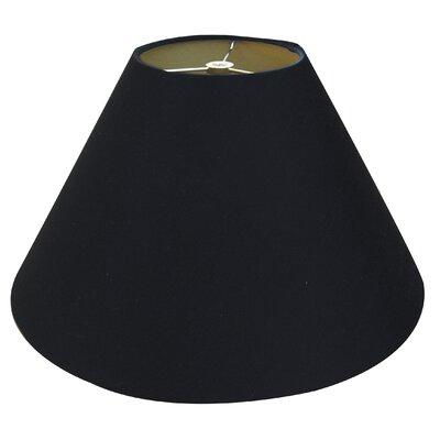 Timeless Coolie 12 Linen Empire Lamp Shade Color: Black