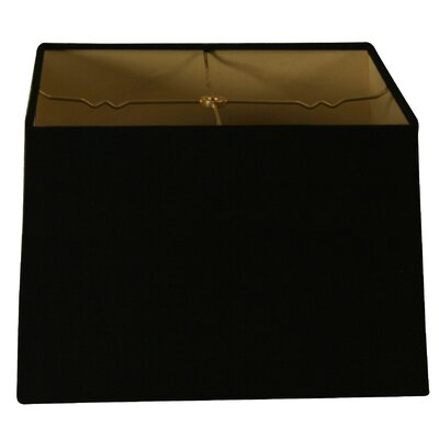 Timeless 12 Shantung Square Lamp Shade Color: Black