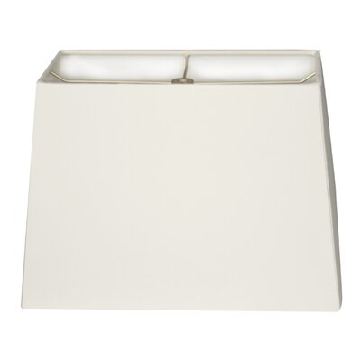 Timeless 8 Linen Rectangular Lamp Shade Color: White