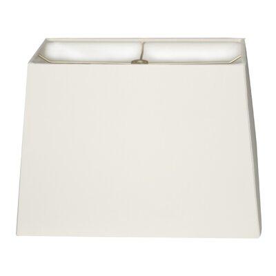 Timeless 8 Linen Rectangular Lamp Shade Color: White