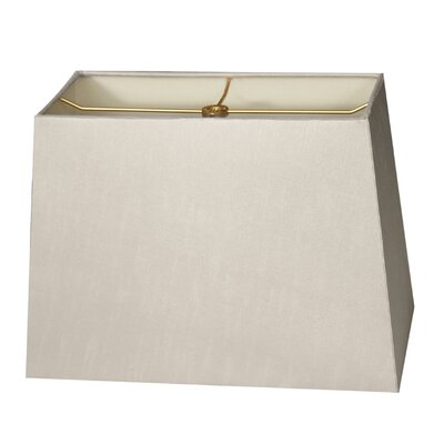 Timeless 8 Shantung Rectangular Lamp Shade Color: Gray