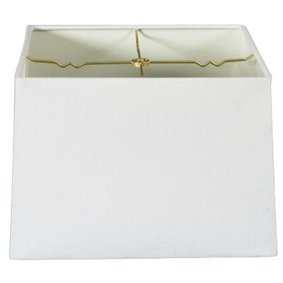 Timeless 12 Linen Square Lamp Shade Color: Linen White