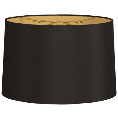 Timeless 12 Shantung Drum Lamp Shade Color: Black