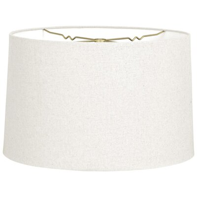 Timeless 16 Linen Drum Lamp Shade Color: Linen White