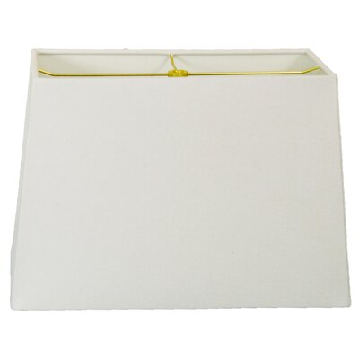 Timeless 8 Linen Rectangular Lamp Shade Color: Linen White