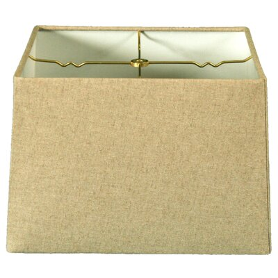 Timeless 16 Linen Square Lamp Shade Color: White