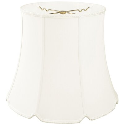 Timeless 14 Silk/Shantung Bell Lamp Shade Color: White