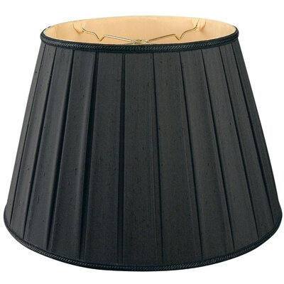 Timeless 18 Silk/Shantung Empire Lamp Shade Color: Black/Gold