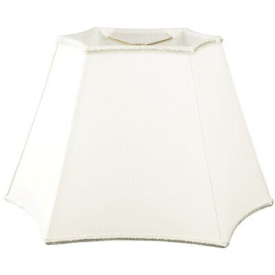 Timeless 18 Silk/Shantung Novelty Lamp Shade Color: White