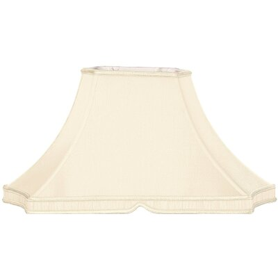 Timeless 20.5 Silk/Shantung Bell Lamp Shade Color: Eggshell