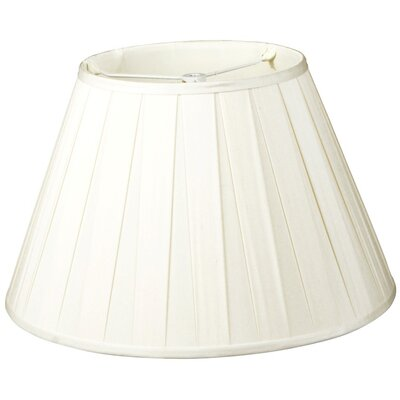 Timeless 18 Silk/Shantung Empire Lamp Shade Color: White
