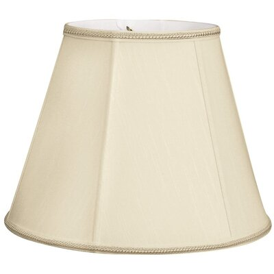 Timeless 12 Silk/Shantung Empire Lamp Shade Color: Beige/Off-White