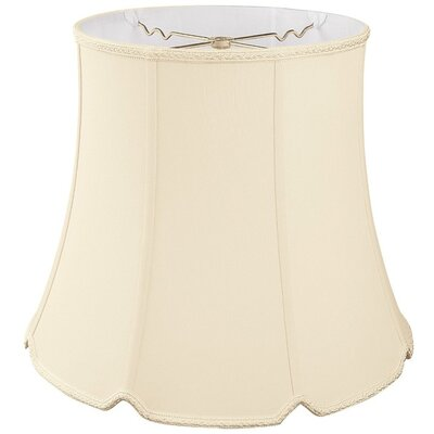 Timeless 14 Silk/Shantung Bell Lamp Shade Color: Beige