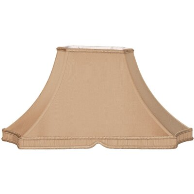 Timeless 20.5 Silk/Shantung Bell Lamp Shade Color: Antique Gold