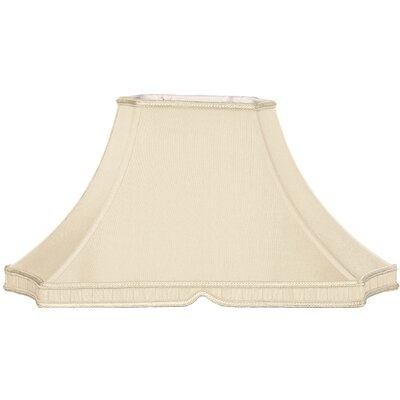 Timeless 20.5 Silk/Shantung Bell Lamp Shade Color: Beige