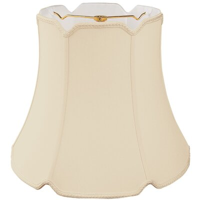 Timeless 18 Silk Bell Lamp Shade Color: Beige