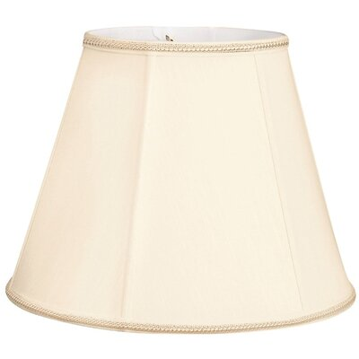 Timeless 14 Silk/Shantung Empire Lamp Shade Color: Eggshell/Off-White