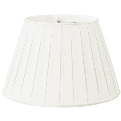 Timeless 18 Silk/Shantung Empire Lamp Shade Color: White/Off-White