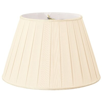 Timeless 18 Silk/Shantung Empire Lamp Shade Color: Eggshell/Off-White