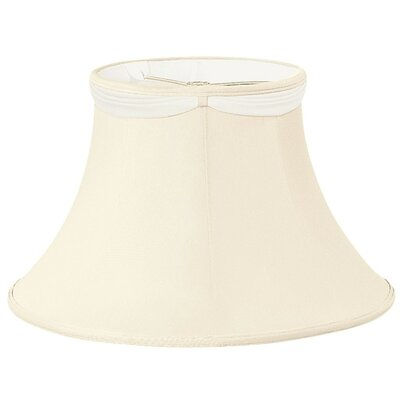 Timeless 8 Silk/Shantung Bell Lamp Shade Color: Eggshell