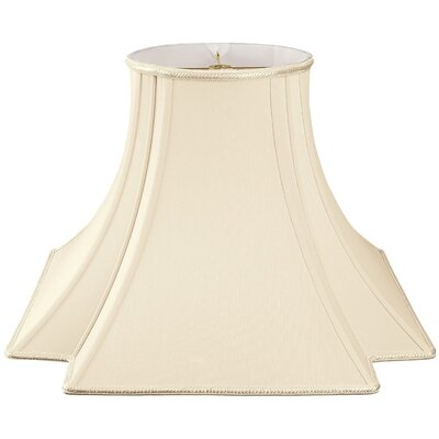 Timeless 12 Silk/Shantung Novelty Lamp Shade Color: Beige/Off-White