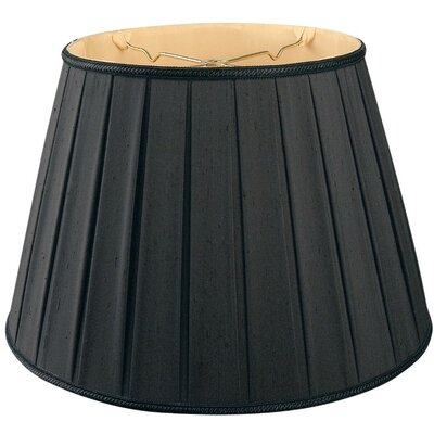 Timeless 20 Silk/Shantung Empire Lamp Shade Color: Black/Gold