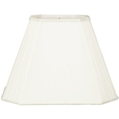 Timeless 14 Silk/Shantung Empire Lamp Shade Color: White
