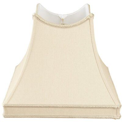 Timeless 14 Silk/Shantung Novelty Lamp Shade Color: Beige