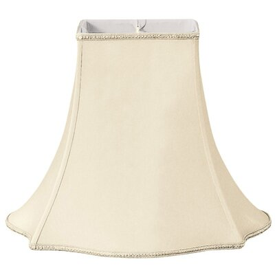 Timeless 14 Silk/Shantung Bell Lamp Shade Color: Beige/Off-White