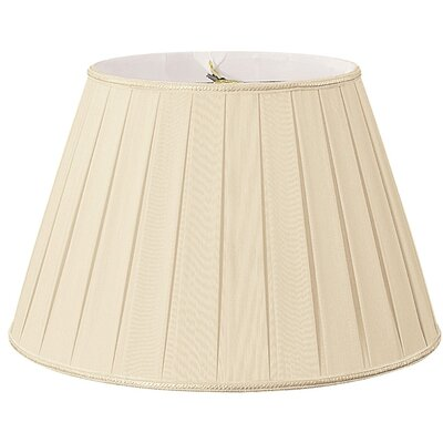 Timeless 20 Silk/Shantung Empire Lamp Shade Color: Beige/Off-White